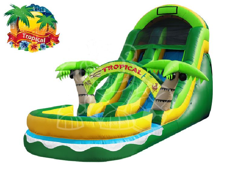 12' Wet and Dry Slide - Tropical Theme
