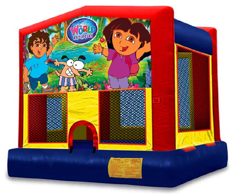Dora Themed Bounce House